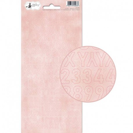 PIATEK13 - Alphabet sticker sheet - Lucidity 01