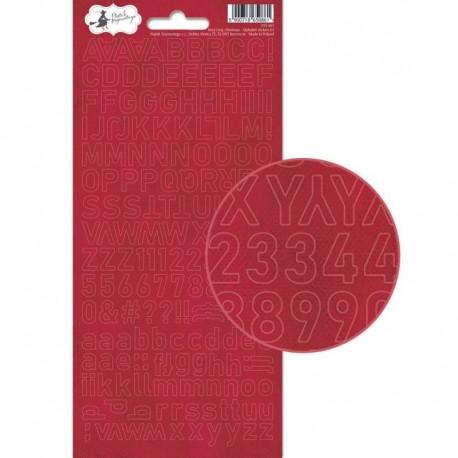 PIATEK13 - Alphabet sticker sheet - Rosy Cosy Christmas 01