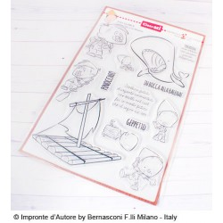Impronte D'Autore - Timbro Clear - Pinocchio e la balena