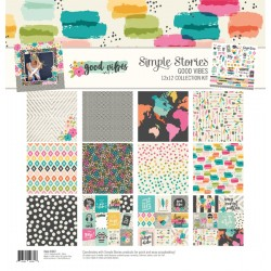 "Simple Stories - Kit carte 12x12"" - Good Vibes"