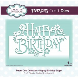 Creative Expressions - Fustella - Happy Birthday Edger