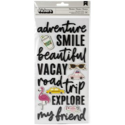 American Crafts - Stickers Foam - Adventure