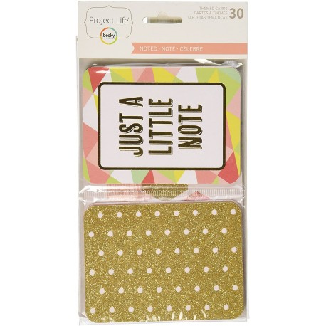 "Project Life - Kit Carte 4x3"" - Noted"