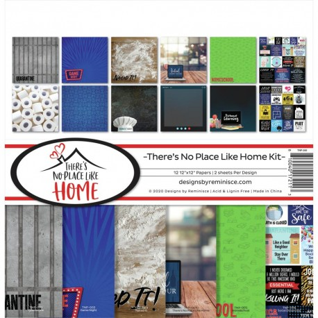 """Reminisce - Kit Carte 12x12"""" -  There's No Place Like Home"""