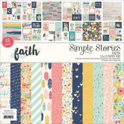 """Simple Stories - Pad carte 12x12"""" - Faith"""