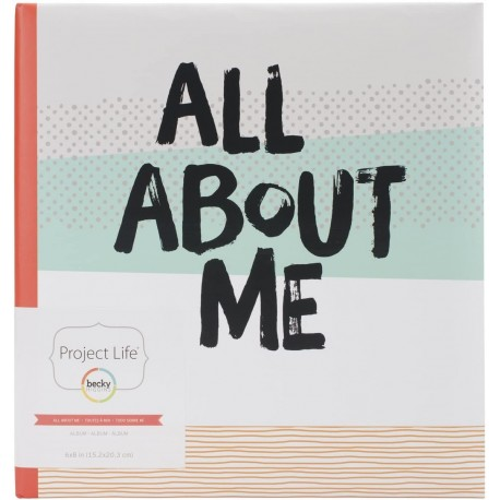 """Becky Higgins - Album Project Life 6x8""""- All About Me"""