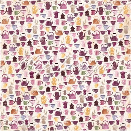 "Maja Design - Carta 12x12"" - Little Street Cafe - Hot Drinks"