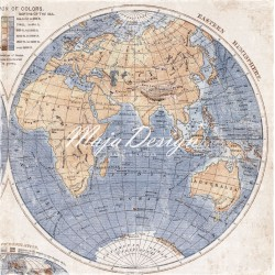 "Maja Design - Carta 12x12"" - Denim & Freinds - Globetrotter"