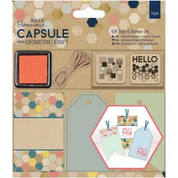 PaperMania - Kit Gift Tag - Geometric  Kraft