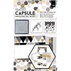 PaperMania - Kit Mini card - Geometric  Mono