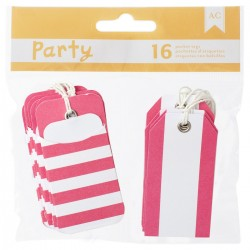 American Craft - Kit tags - Pink