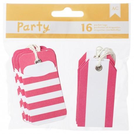 American Craft - Kit tags - Pink