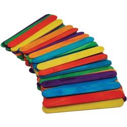 MultiCraft - Pacco stecche gelato in legno - Multicolori
