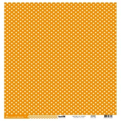 "Kesi'Art - Cartoncino 12x12 "" coeur - Orange"