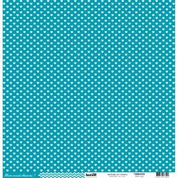 """Kesi'Art - Cartoncino 12x12 """" coeur - Turquoise"""