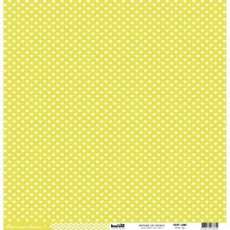 "Kesi'Art - Cartoncino 12x12 "" coeur - Lime"