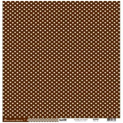 "Kesi'Art - Cartoncino 12x12 "" coeur - Marron"