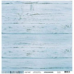 Kesi'Art - Cartoncino 12x122 Stockwood - Bois Bleu