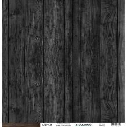 "Kesi'Art - Cartoncino 12x12"" Stockwood - Bois fonce"