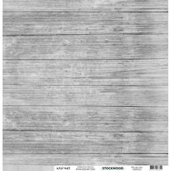 """Kesi'Art - Cartoncino 12x12"""" Stockwood - Bois gris clair"""