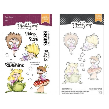 Bundle Fustelle e Timbri coordinati ModaScrap - Land of Fairies 1