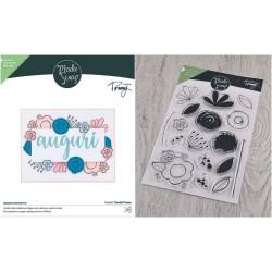 Bundle Fustelle e Timbri coordinati ModaScrap - Doodle Flower