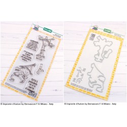 Bundle Fustelle e Timbri coordinati Impronte d'Autore - Felicità