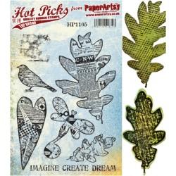 Bundle Fustelle e Timbri coordinati PaperArtsy - Leaf