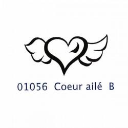 Aladine - Timbro in legno - Coeur ailé