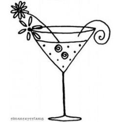 Penny Black - Timbro in legno - Cocktail