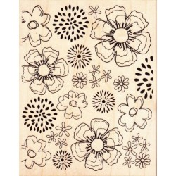 Hero Arts- Timbri Clear - Outline Flowers