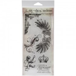Stampers Anonymous - Timbri Clear Tim Holtz - Regal Flourish