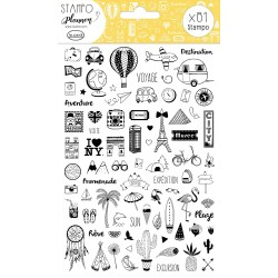 Aladine - Timbri Cling - Planner carnet voyage
