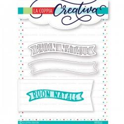 La Coppia Creativa - Fustella - Natale doppio banner