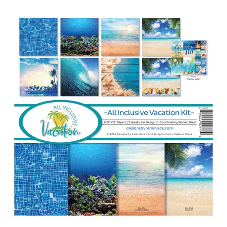 """Reminisce  - Kit Carte 12x12"""" - All Inclusive Vacation"""