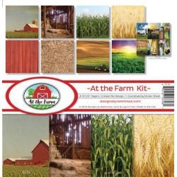 """Reminisce  - Kit Carte 12x12"""" - At the Farm"""