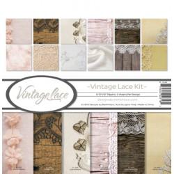 """Reminisce  - Kit Carte 12x12"""" - Vintage Lace"""