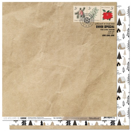 """Les Ateliers de Karine - Carta 12x12"""" - Livraison spéciale"""