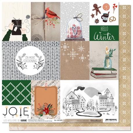 "Les Ateliers de Karine - Carta 12x12"" - Hello Winter"