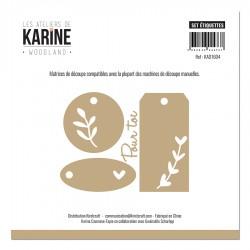 Les Ateliers de Karine - Fustelle - Set étiquettes