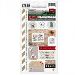 Les Ateliers de Karine - Stickers- Woodland 15x30cm