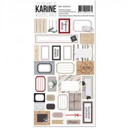 Les Ateliers de Karine - Stickers- Woodland 30 étiquettes