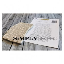 Simply Graphic - Timbri Cling - Fond Texte Décalé