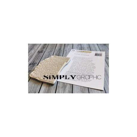 Simply Graphic - Timbri Cling - Fond Texte Décalé