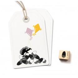 Cats on appletrees - Timbro Legno - Acorn (black) - 2365