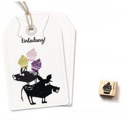 Cats on appletrees - Timbro Legno - Cupcake (XS) - 2328