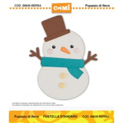 Impronte d'Autore - Fustella CUT-MI - Pupazzo di neve