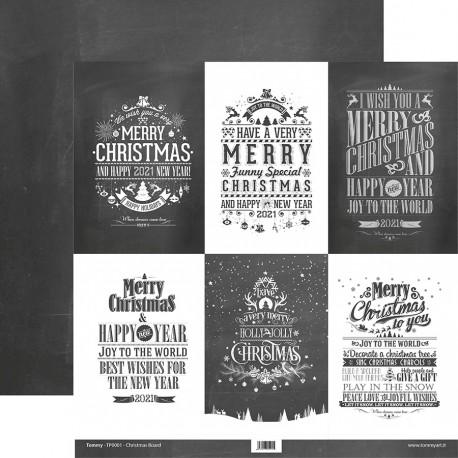 "Tommy Art - Carte 12x12"" - Christmas Board"