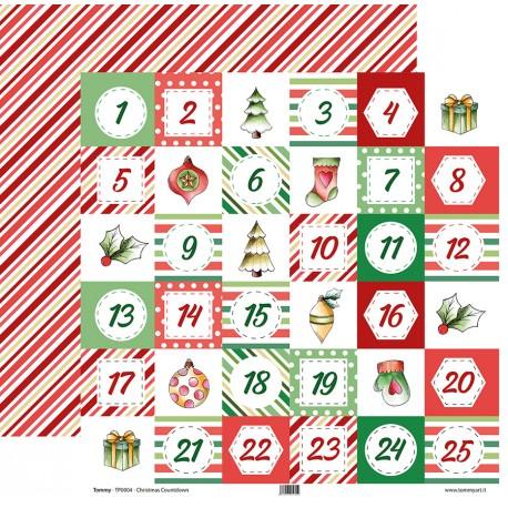 "Tommy Art - Carte 12x12"" - Christmas Countdown"