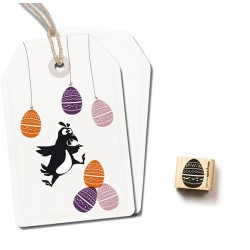 Cats on appletrees - Timbro Legno - Easter Egg Small 2602